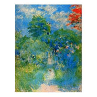 Gardenpath en Mezy de Berthe Morisot Postal