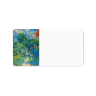 Gardenpath in Mezy by Berthe Morisot Personalized Address Labels