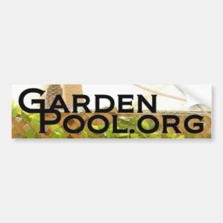 GardenPool Bumper Sticker Car Bumper Sticker