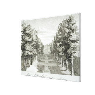 Gardens at Tshehar-Bagh, Isfahan, from' Voyages du Canvas Print