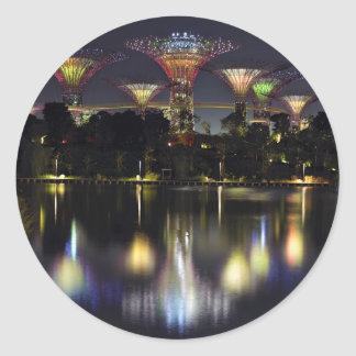 Gardens by the Bay Supertree Grove Classic Round Sticker