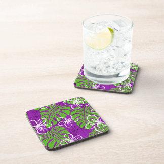 Garden's Edge purple Drink Coaster