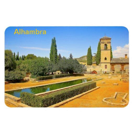 Gardens of La Alhambra Rectangular Photo Magnet
