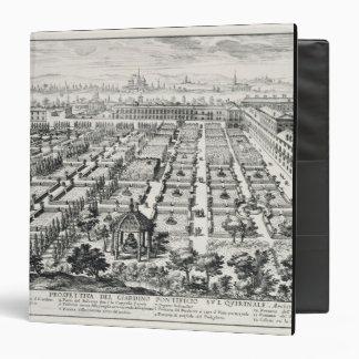 Gardens of the Quirinale, from 'Li Giardini di Rom 3 Ring Binder
