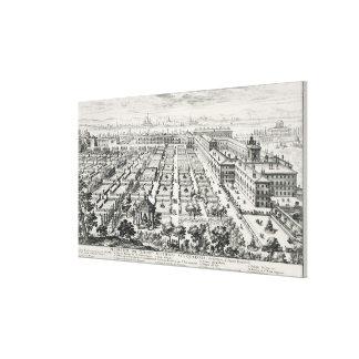 Gardens of the Quirinale, from 'Li Giardini di Rom Canvas Print