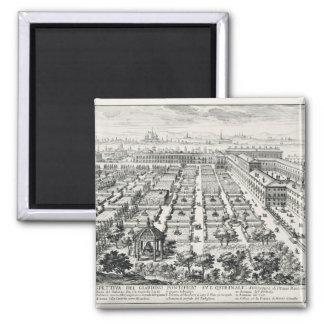 Gardens of the Quirinale, from 'Li Giardini di Rom Magnet