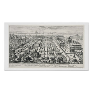 Gardens of the Quirinale, from 'Li Giardini di Rom Poster