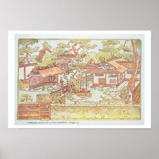 Gardens of Yuan Ming Yuan, Peking, 1783-86 (engrav Poster