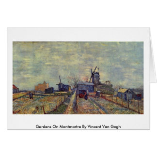 Gardens On Montmartre By Vincent Van Gogh Greeting Card
