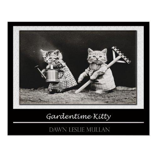 Gardentime Kitty Poster