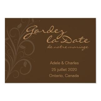 Gardez La Date de notre Mariage Invitation Card