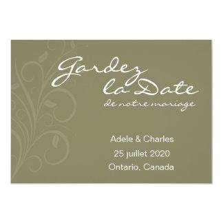 Gardez La Date de notre Mariage Invitation Cards