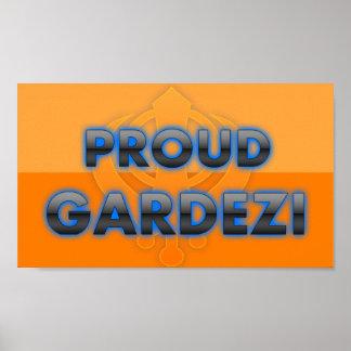 Gardezi orgulloso orgullo de Gardezi Poster