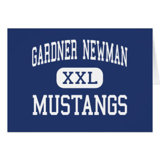 Gardner Newman Mustangs Middle La Grange Greeting Card