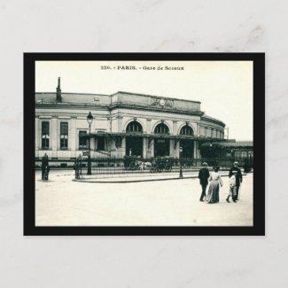 Gare de Sceaux, Paris, France c1910 Vintage postcard