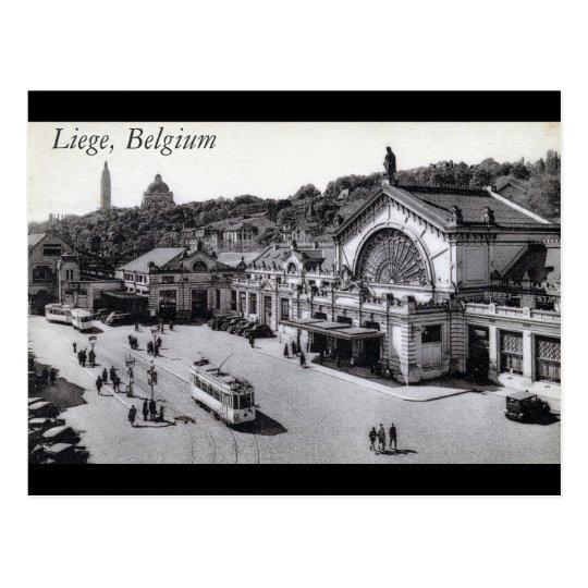 Gare des Guillemins, Liege Belgium Vintage Postcard