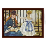 Gare Saint-Lazare By Manet Edouard Greeting Cards