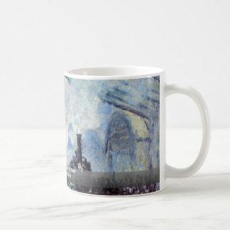 Gare Saint Lazare In Paris By Claude Monet Coffee Mug