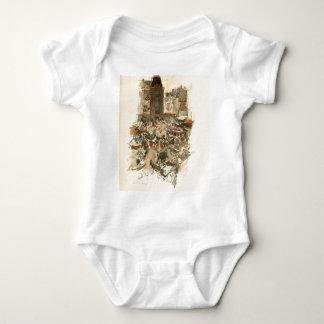 Gare Saint-Lazare Paris 1910 Baby Bodysuit