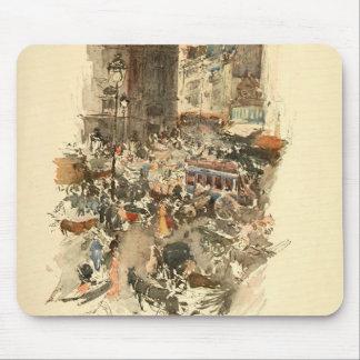 Gare Saint-Lazare Paris 1910 Mouse Pad