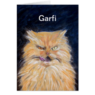 Garfi Greeting Card