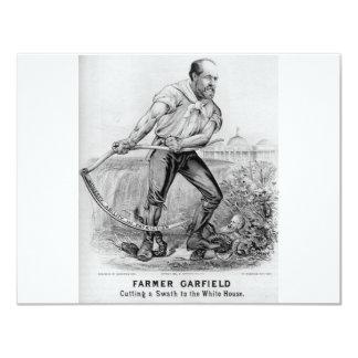 """Garfield 1880 invitación 4.25"""" x 5.5"""""""