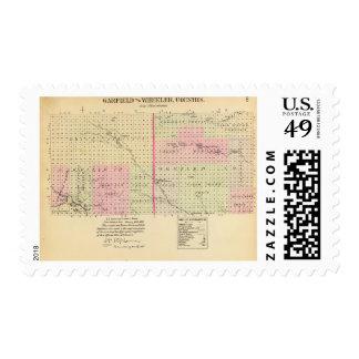 Garfield and Wheeler County, Nebraska Postage