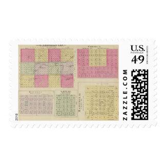 Garfield County, Creola, Ravanna, Loyal, Kansas Postage