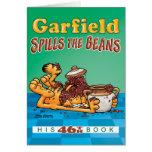 Garfield derrama la tarjeta de nota de las habas