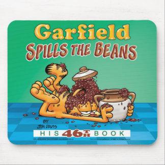 Garfield derrama las habas Mousepad Tapetes De Ratón