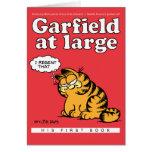 Garfield en la tarjeta de nota grande