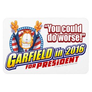 Garfield For President in 2016 Magnet