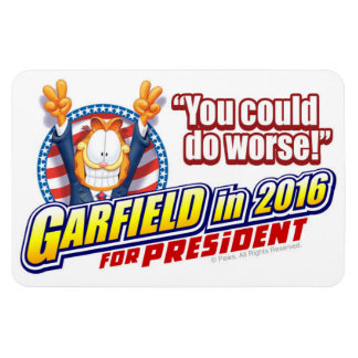 Garfield For President in 2016 Rectangular Photo Magnet