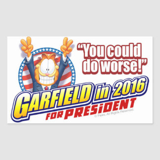 Garfield For President in 2016 Rectangular Sticker