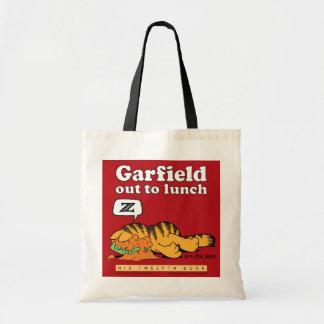 Garfield hacia fuera a almorzar la bolsa de asas