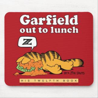 Garfield hacia fuera a almorzar Mousepad Tapete De Ratón