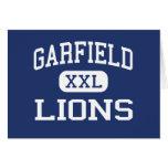 Garfield - leones - alto - San Diego California Felicitación