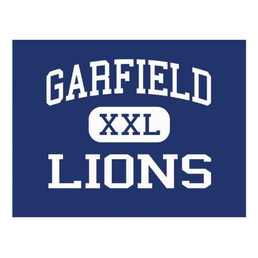 Garfield - leones - alto - San Diego California Postal