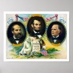 Garfield, Lincoln, y McKinley -- En Memoriam Póster