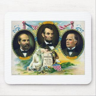 Garfield, Lincoln, y McKinley -- En Memoriam Tapetes De Ratón