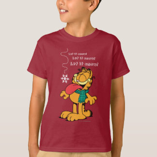 ¡Garfield lo dejó nevar! Playera