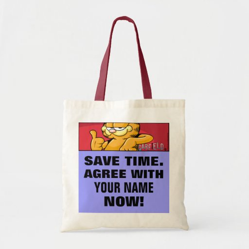 Garfield Logobox Agree With Me Tote Bag