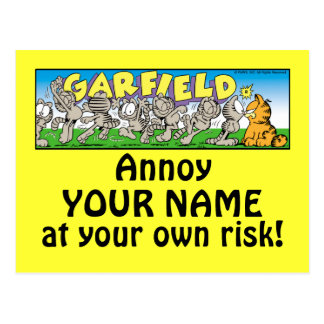 Garfield Logobox Annoy Me Postcards