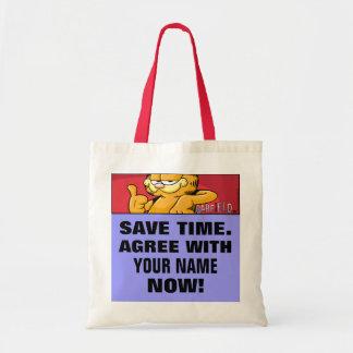 Garfield Logobox está de acuerdo conmigo la bolsa