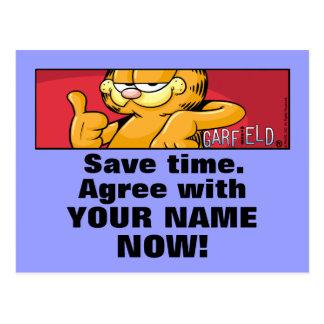 Garfield Logobox está de acuerdo conmigo las Postales