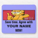 Garfield Logobox está de acuerdo Mousepad