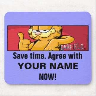 Garfield Logobox está de acuerdo Mousepad Alfombrilla De Ratón