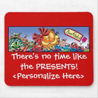 Garfield Logobox Holiday Presents Mousepad