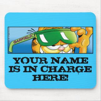 Garfield Logobox In Charge Mousepad