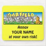Garfield Logobox me molesta Mousepad Alfombrillas De Raton